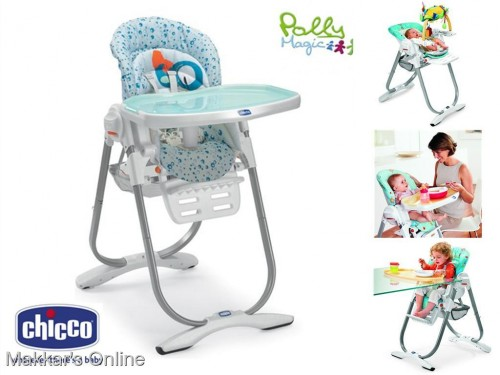 2 chaises hautes evolutives polly magic chicco - Chaise haute evolutive 3 en 1 chicco polly magic ...