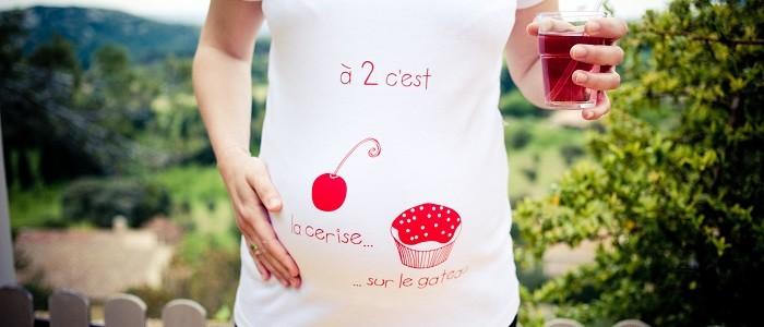 t-shirt grossesse jumeaux