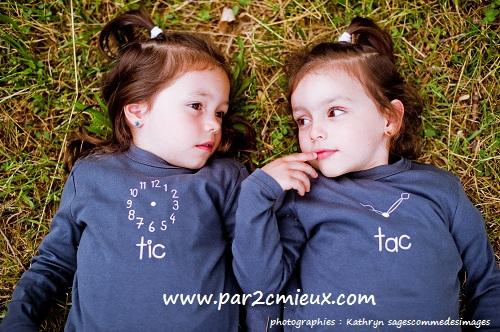 vêtements jumeaux Tic et Tac