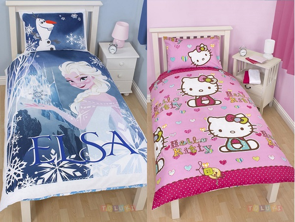parure de lit reine des neiges cars ou spiderman. Black Bedroom Furniture Sets. Home Design Ideas