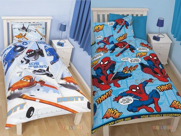 Parure De Lit Reine Des Neiges, Cars Ou Spiderman