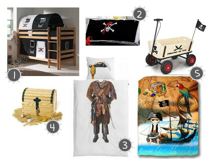 chambre enfants pirates