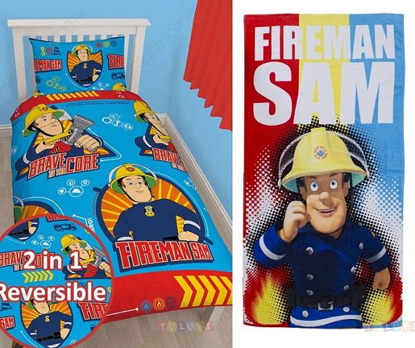 couette Sam le pompier