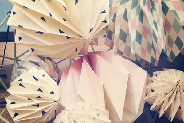 décoration Baptème origami
