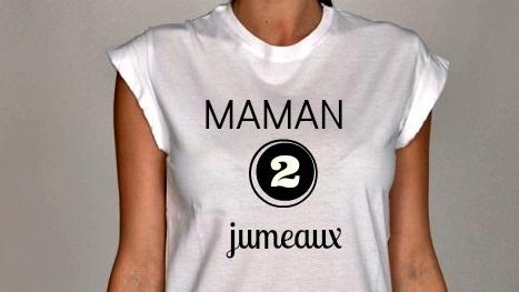 tshirt Maman 2 jumeaux