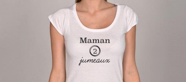 T-shirts Maman de jumeaux