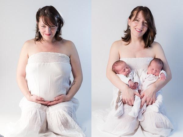 maman de jumeaux photographie