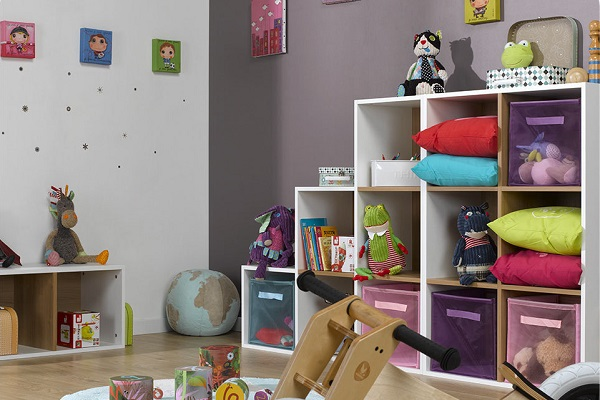 simple rangement bibliothque modulable with jeux de ranger la chambre. Black Bedroom Furniture Sets. Home Design Ideas