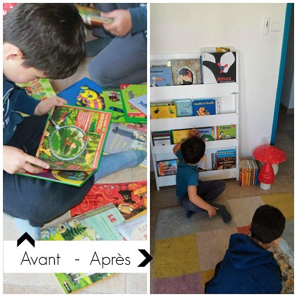 Rangement livres enfants