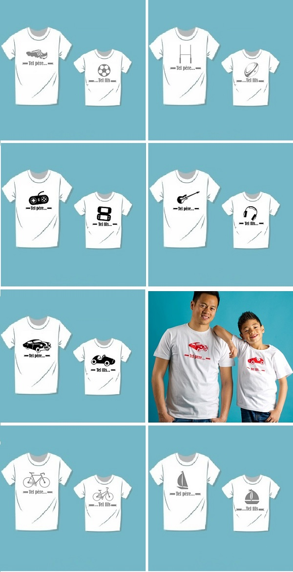 T-shirt tel père tel fils