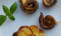 rosaces de légumes à la plancha