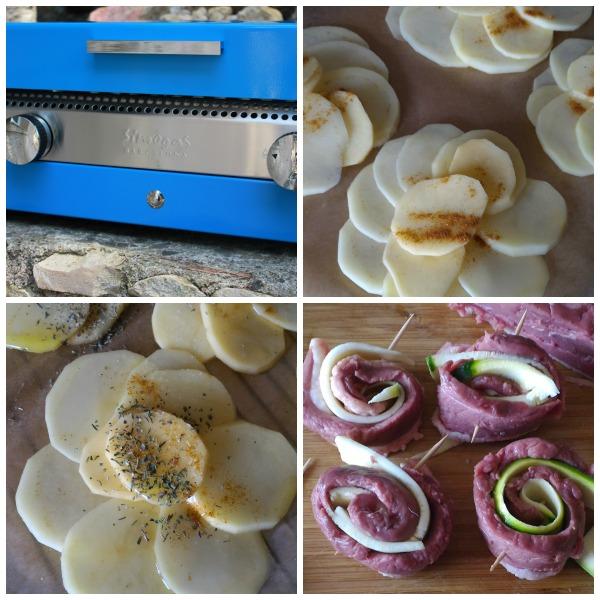 recette rosace de légumes à la plancha