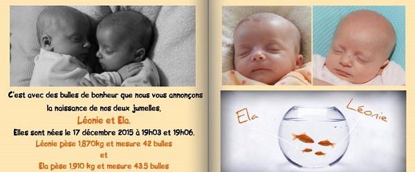 Connu Texte faire-part jumeaux – Jumeaux & Co le site des parents de  RA61