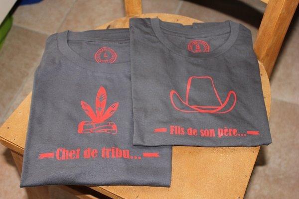 t-shirt papa chef de tribu et fils de son père