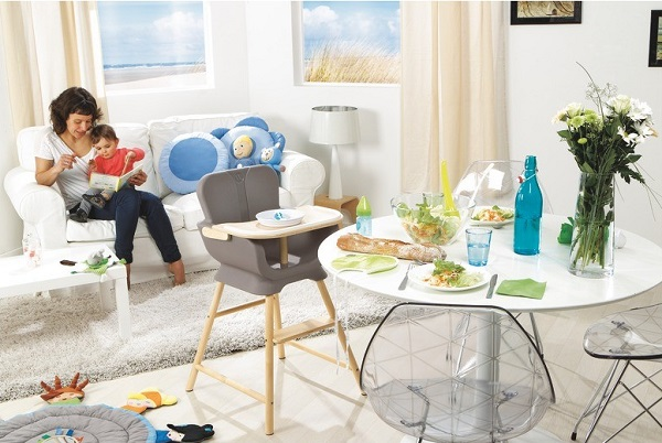 chaise haute tablette wesco scandinave