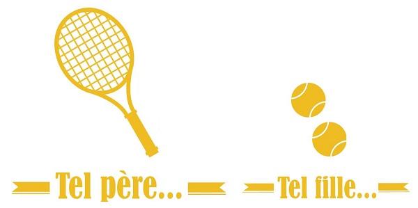 cadeau papa enfant tennis