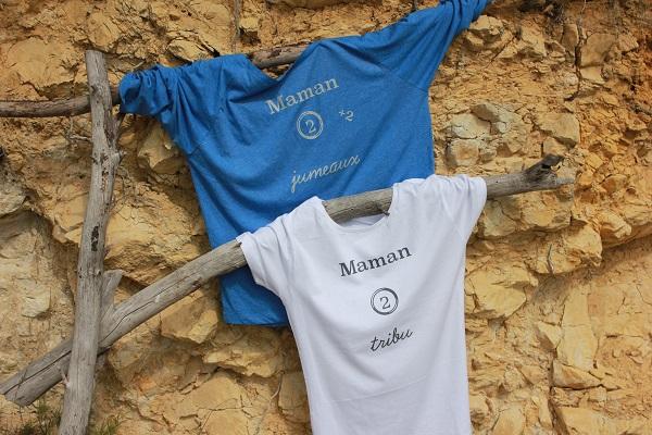 t-shirt maman de jumeaux tribu