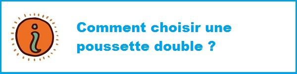 Choisir sa poussette double